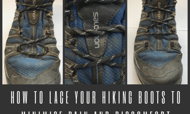 lacing hiking boots to maximise comfort and minimise pain