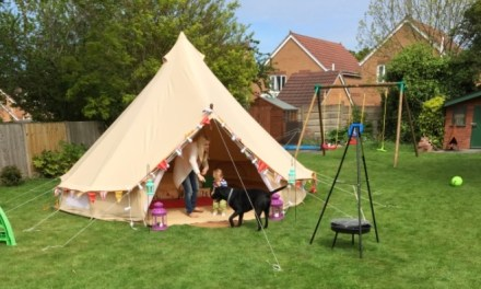 Garden Camping For Families Eager to Sleep Outside for the First Time