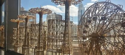 Cyclone, Parachute Drop, and Wonder Wheel wood models