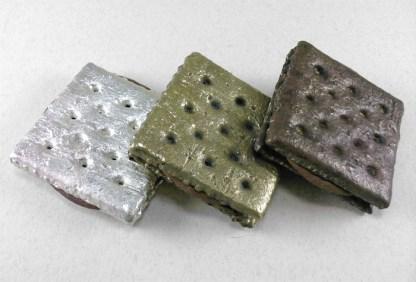 Brass-Plated Cheese Cracker