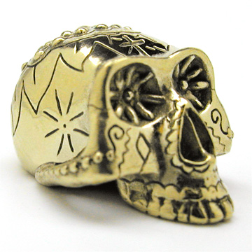 Dia de los Muertos Brass Skull
