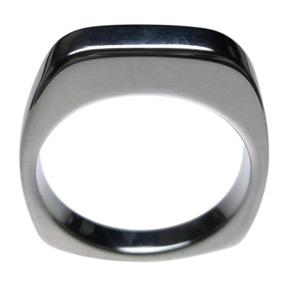 Silver Euro Shank ring