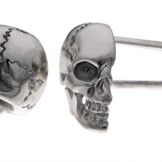 Sterling half skull cuff links