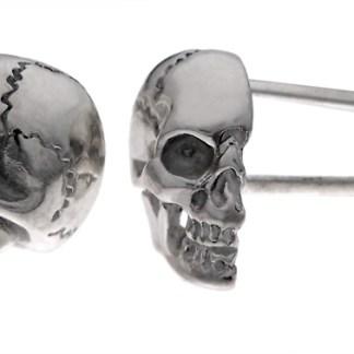 Sterling half skull cuff links