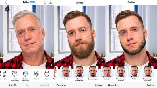 Colocar barba na foto