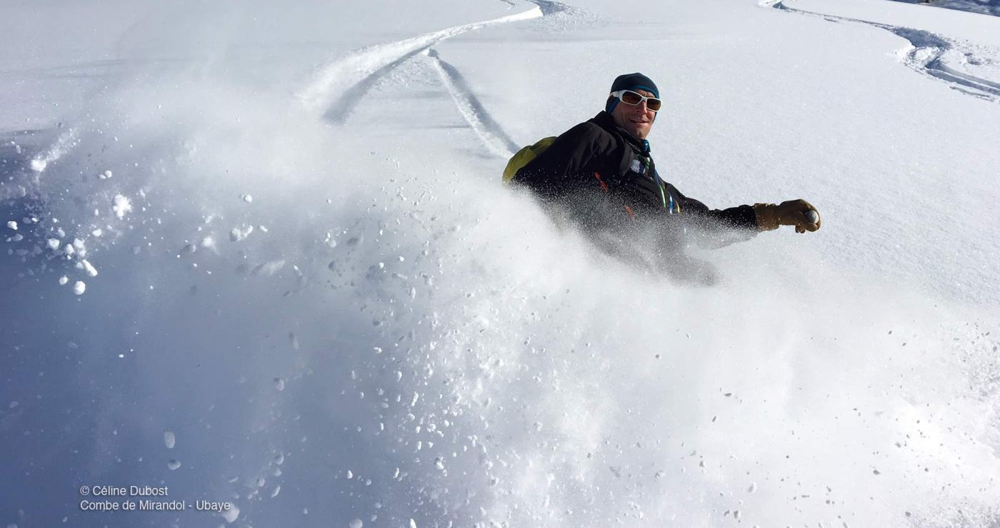 © Céline Dubost, ski hors-piste, combe de Mirandol, Ubaye