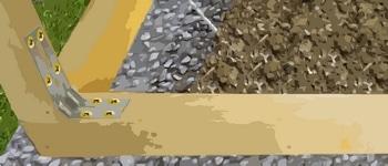 assemblage des montants en bois du pigeonnier
