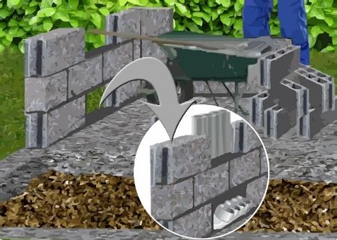 plan de montage des murs du pigeonnier
