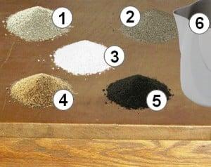 composant d'un bloc de minéraux pour les poules et les volailles