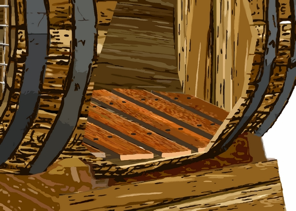 aménagement intérieur de la barrique