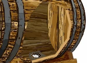 emplacement de la bonde de la barrique