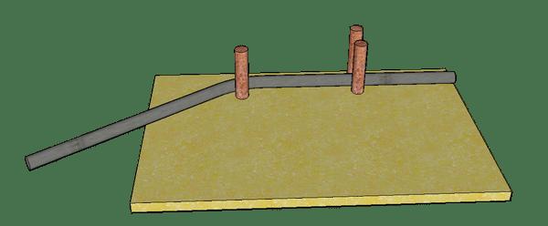 système pour plier les tiges de fer à béton
