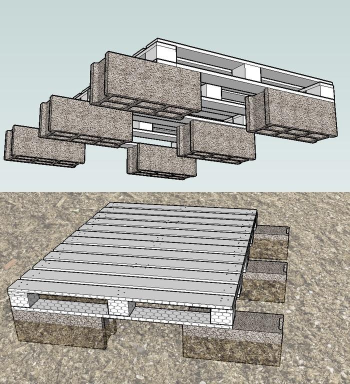 Construction d 39 un poulailler en palettes modulable plan poulailler bio - Construction avec des palettes ...