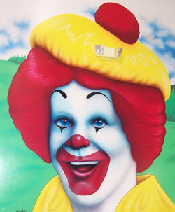 """Ronald McDonald, a typical Scot, wearing a tam o' shanter. Picture taken by """"Janet is really cool"""" (Flickr name) and used under Creative Commons licence."""