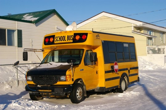 There's only one school bus in CB and it doesn't get much use