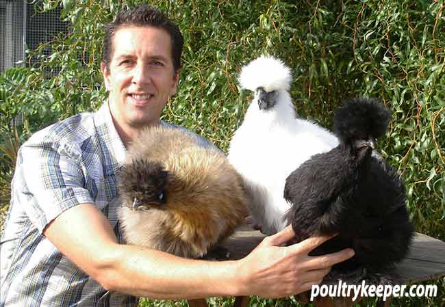 Laurence and his Silkies