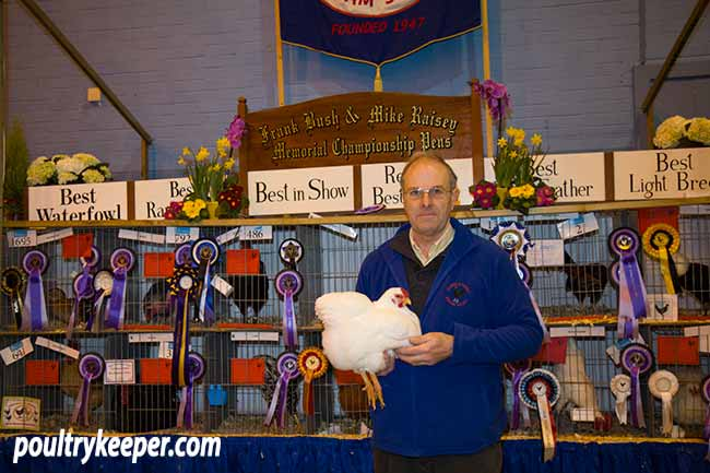 Allan Brucker with his Show Champion Wyandotte