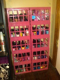 DIY Nail Polish Storage Solution