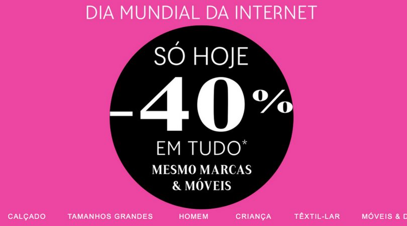 61f940234 La Redoute - TUDO com 40% dia da Internet • Poupadinhos e Com Vales