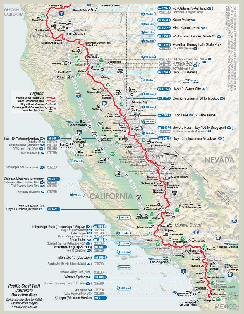 Campo to Seiad Valley (California)