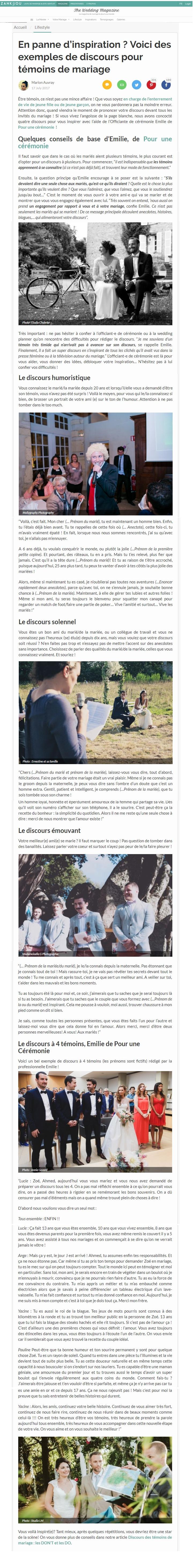 Zankyou Emilie Goulier Cérémonie Laïque