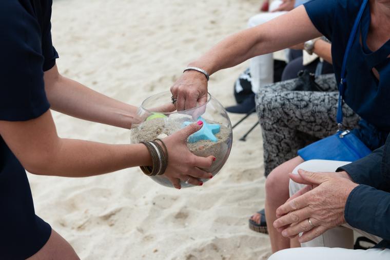 rituel personnalisé sable