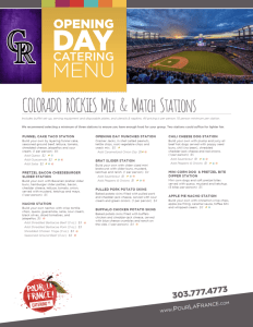 Opening Day Catering Menu