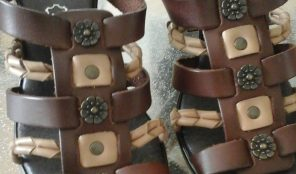 Sandale marron cuir
