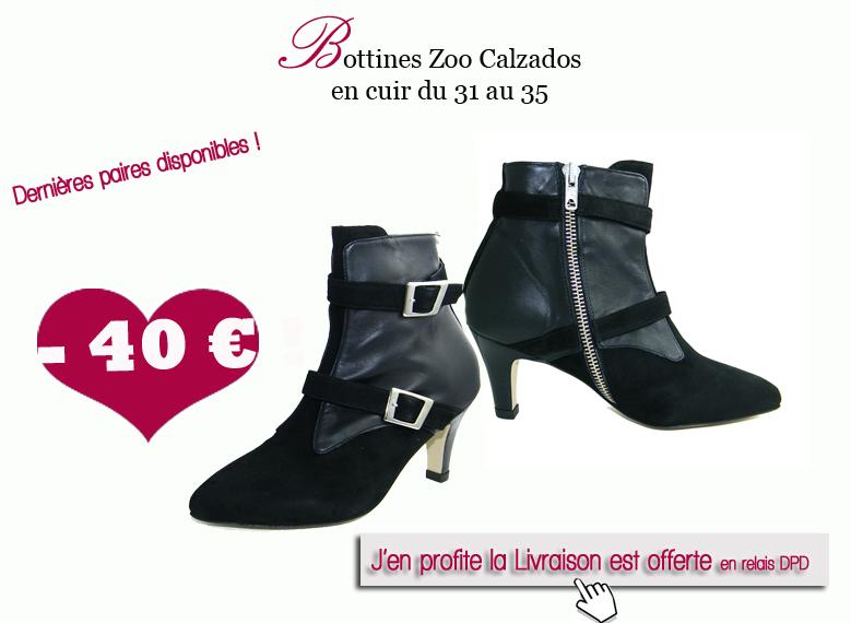 bottines zoo calzados petites pointures femme