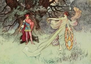 Prince et princesse charmante se rencontrant par hasard
