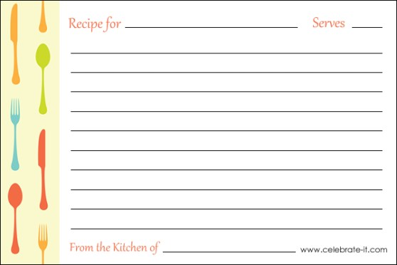 Printable Recipe Cards Page 2 Pour Tea And Coffee