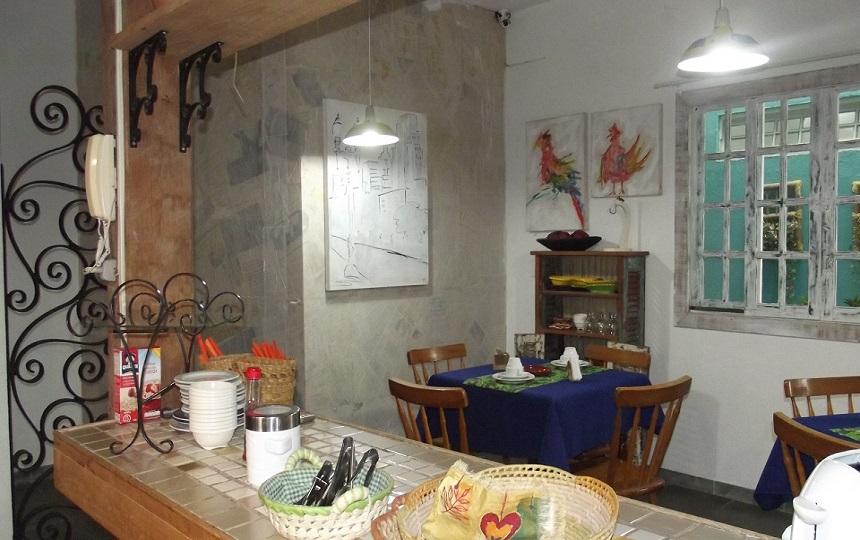 Area do Cafe Pousada Oca Poranga Guaruja