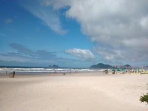 Areia da Praia da Enseada em Guarujá SP - Praias do Guarujá