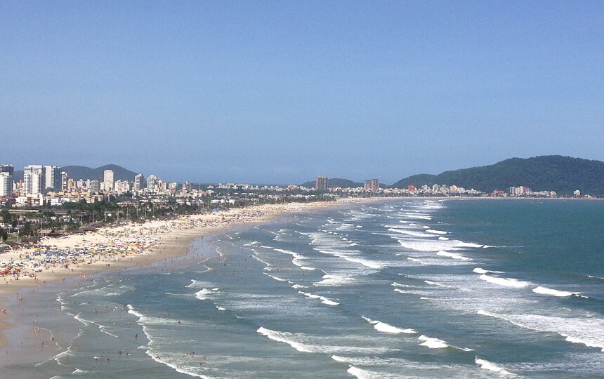 Praia da Enseada Guarujá SP Vista Mirante Morro do Maluf