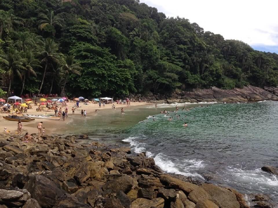 Vista da Praia do Eden no Guaruja