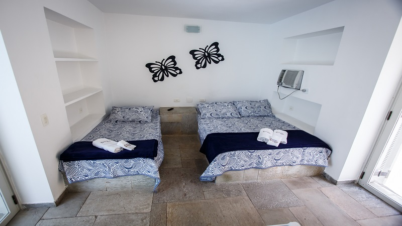 Suite Master Pousada Pe na Areia Praia de Pernambuco Guaruja