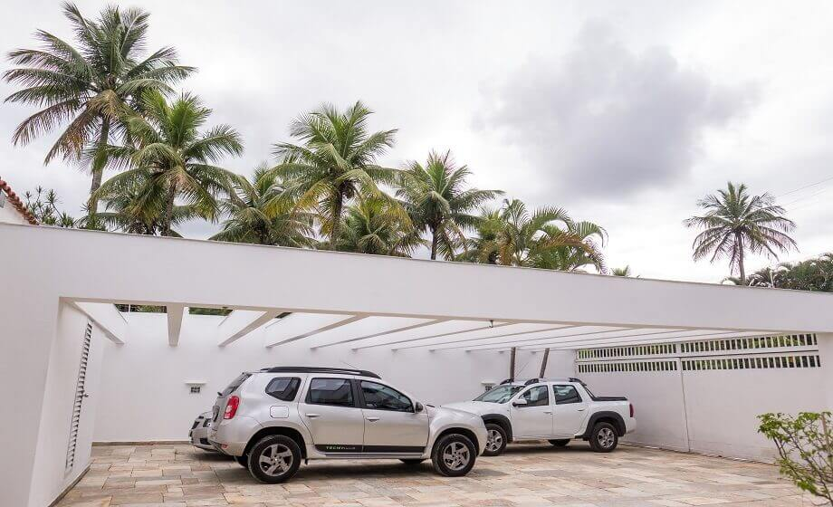Estacionamento Interno Pousada Pe na Areia Pernambuco Guaruja