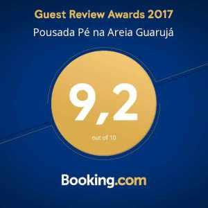Nota Booking Pousada Pe na Areia Guaruja
