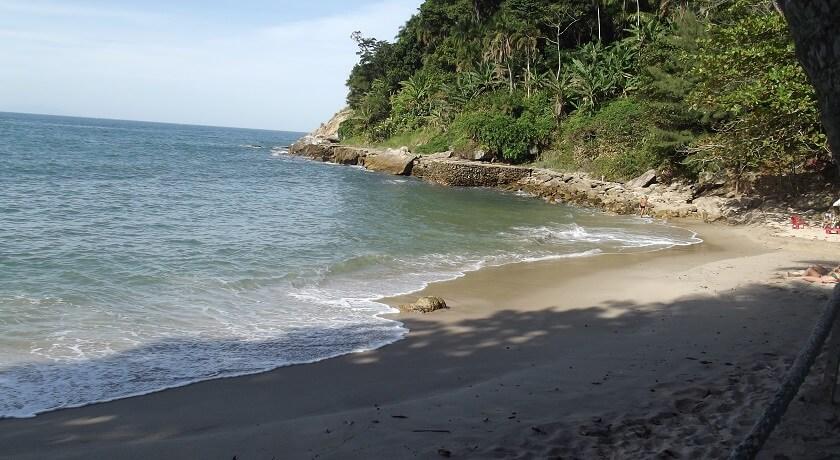 A Praia do Eden no Guaruja