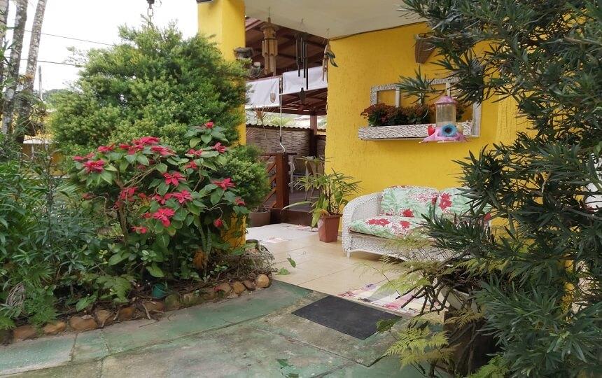 Jardim da Pousada Sorocotuba Enseada Guarujá