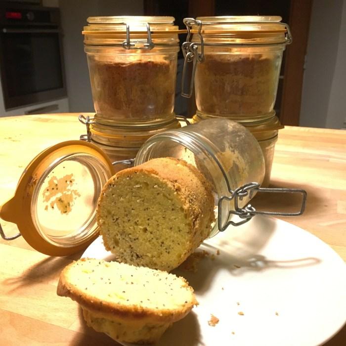 Cake en bocal au citron et aux graines de Chia