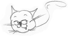 Un autre instant «Tiens, j'y pense» de Poussin-chat