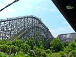 Aska, plus grand roller coaster de Nara dreamland, Japon