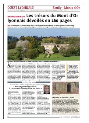 Les trésors du Mont d'Or lyonnais Le Progrès 151117