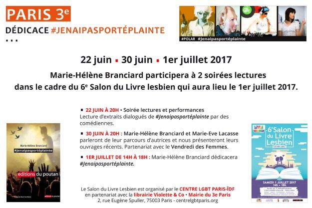 Lectures #jenaipasporteplainte au 6e Salon du livre lesbien