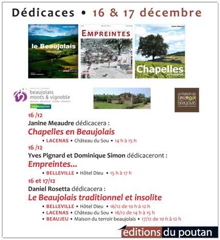 editions du poutan dedicaces des 16 et 17 decembre