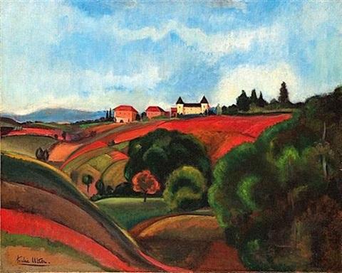 [illustration : André Utter, La campagne beaujolaise, 1921- détail]