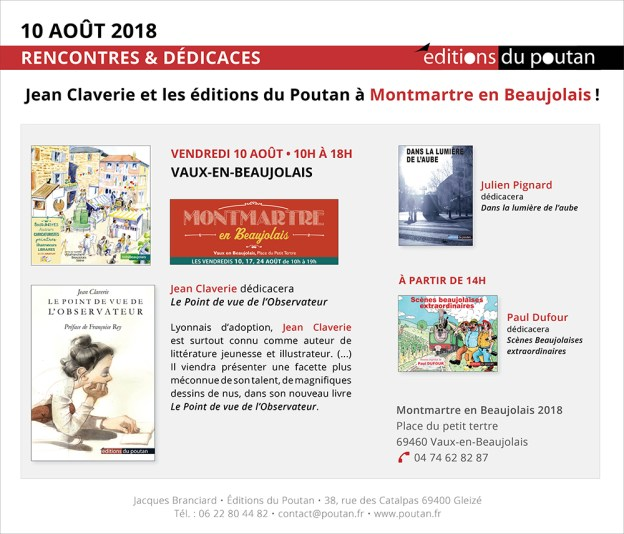 Jean Claverie et les éditions du Poutan à Montmartre en Beaujolais!