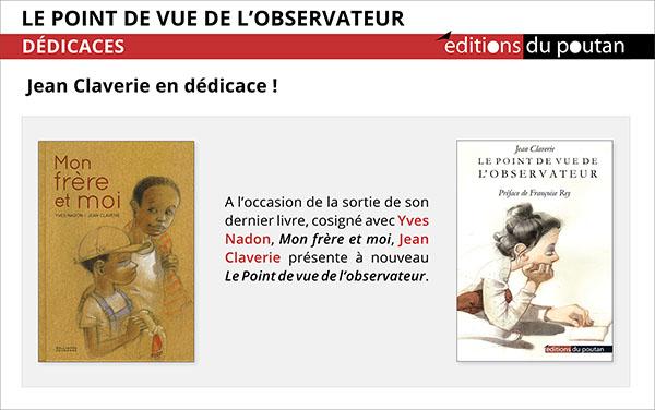 Jean Claverie en dédicace à Lyon, Paris, Montpellier…