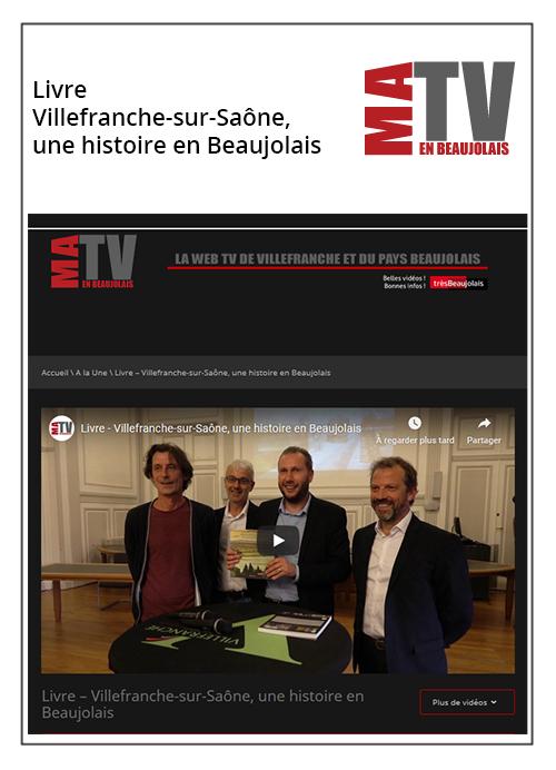 Villefranche-sur-Saône, une histoire en Beaujolais - Ma TV en beaujolais 19/09/19